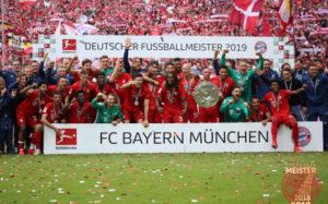 Bayern München die Bundesliga 2019 gewann